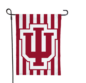 Indiana - IU Candy Stripe Garden Flag