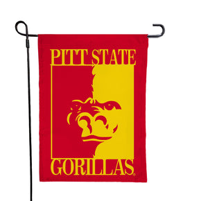 Pittsburg State - Gorillas Red Garden Flag