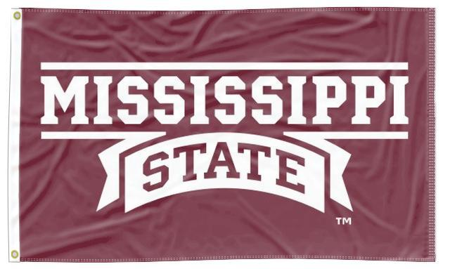Mississippi State - Maroon 3x5 Flag