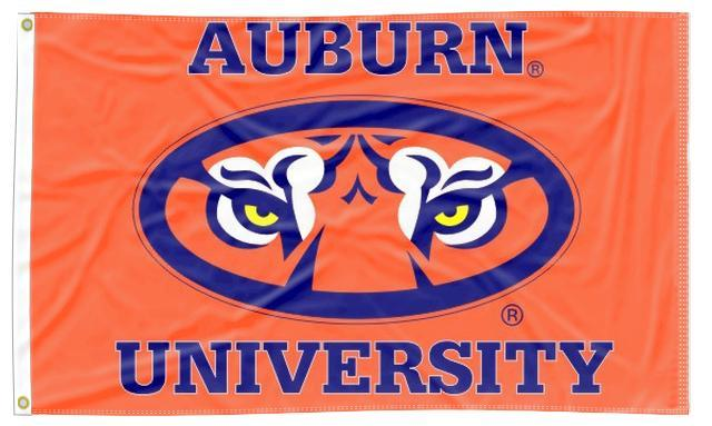 Auburn - Tiger Eyes Orange 3x5 Flag