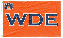 Load image into Gallery viewer, Auburn - WDE Orange 3x5 Flag