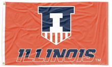 Load image into Gallery viewer, Illinois - Fighting Illini Shield 3x5 Flag