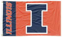 Load image into Gallery viewer, Illinois - Fighting Illini Blue & Orange 3x5 Flag
