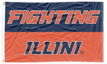 Load image into Gallery viewer, Illinois - Fighting Illini 3x5 Flag