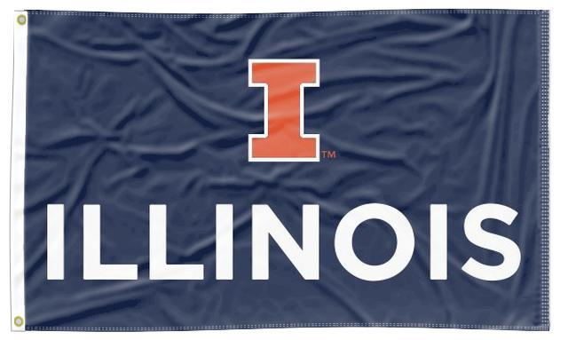 Illinois - I Illinois Blue 3x5 Flag