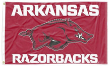Load image into Gallery viewer, Arkansas - Razorbacks 3x5 Flag