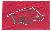 Load image into Gallery viewer, Arkansas - Razorbacks Red 3x5 Applique Flag