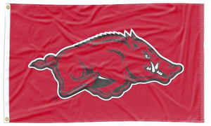 Arkansas - Razorbacks Red 3x5 Applique Flag