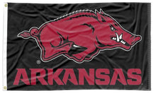 Load image into Gallery viewer, Arkansas - Razorbacks Black 3x5 Flag