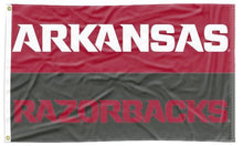 Load image into Gallery viewer, Arkansas - Razorbacks Wordmarks Gray & Red 3x5 Flag