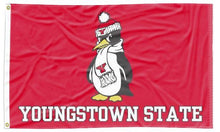 Load image into Gallery viewer, Youngstown State - Penguin Red 3x5 Flag