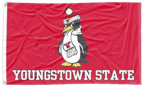 Youngstown State - Penguin Red 3x5 Flag
