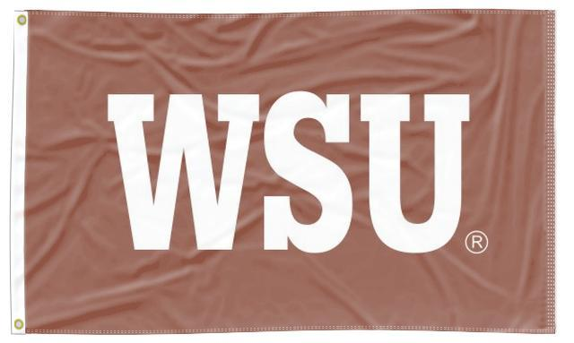 Washington State - WSU Red 3x5 Applique Flag