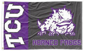 Texas Christian University - 2 Panel 3x5 Flag
