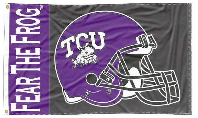Texas Christian University - Fear The Frog Football 3x5 Flag