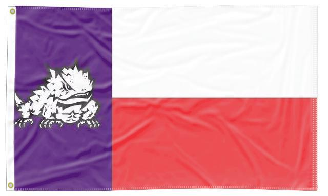 Texas Christian University - Flag of Texas Style 3x5 Flag