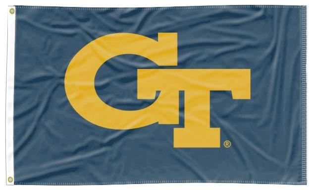 Georgia Tech - GT Navy 3x5 Applique Flag