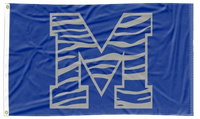 Memphis - M Tiger Blue 3x5 Flag