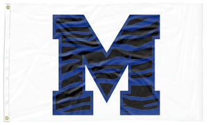 Memphis - M Tiger White 3x5 Flag