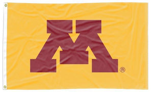 Minnesota - Golden Gophers Gold 3x5 Applique Flag
