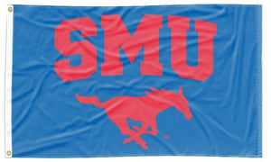 Southern Methodist - Mustangs Blue 3x5 Flag