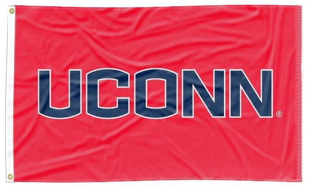 Connecticut - UCONN Red 3x5 Flag