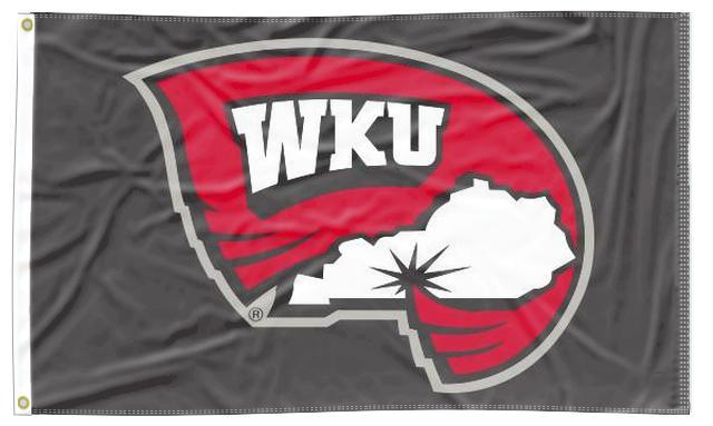 Western Kentucky - Hilltoppers Black 3x5 Flag
