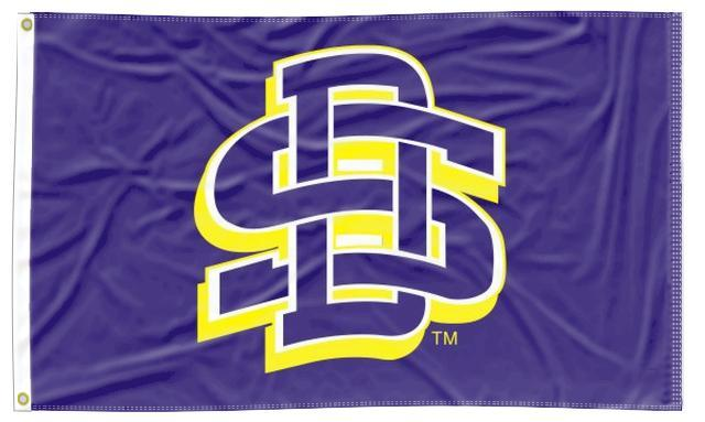 South Dakota State - SD Blue 3x5 Applique Flag