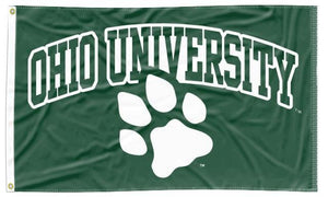 Ohio University - University Paw Green 3x5 Flag