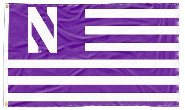 Northwestern - Wildcats National 3x5 Flag
