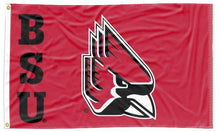 Load image into Gallery viewer, Ball State - BSU Cardinal Head 3x5 Flag