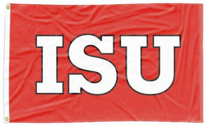Illinois State - ISU Red Applique 3x5 Flag