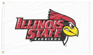 Illinois State - Redbirds White 3x5 Flag