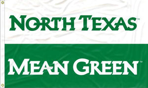North Texas - Mean Green White and Green 3x5 Flag