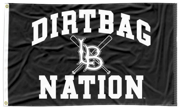 Long Beach - Dirtbag Nation Black 3x5 Flag