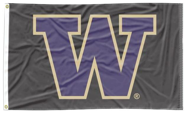 Washington - Huskies Black 3x5 Flag