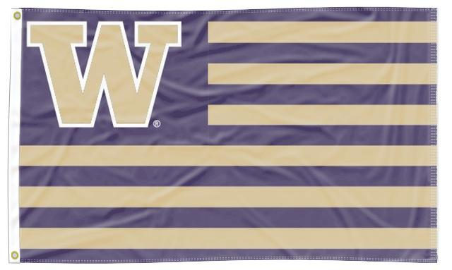 Washington - Huskies National 3x5 Flag