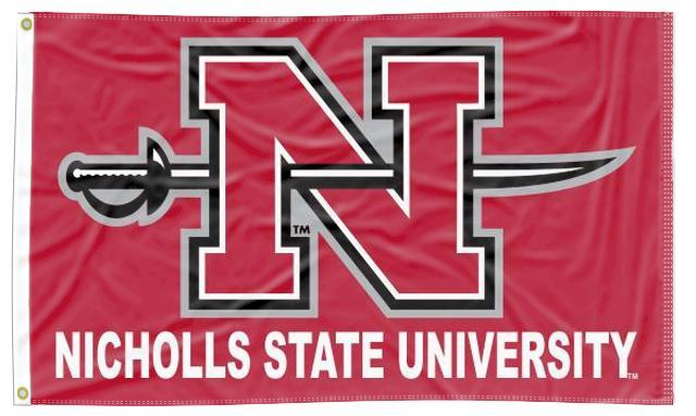 Nicholls State University - N Colonel 3x5 Flag