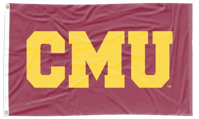 Central Michigan - CMU Maroon 3x5 Applique Flag