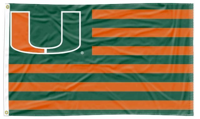 Miami Florida - Hurricanes National 3x5 Flag