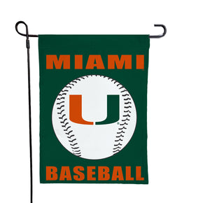Miami Florida - Hurricanes Baseball Green Garden Flag