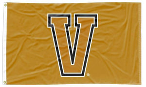Vanderbilt - V Gold Applique 3x5 Flag