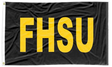 Load image into Gallery viewer, Fort Hays State - FHSU Black 3x5 AppliqueFlag