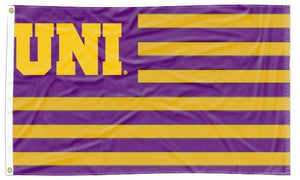Northern Iowa - UNI National 3x5 Applique Flag