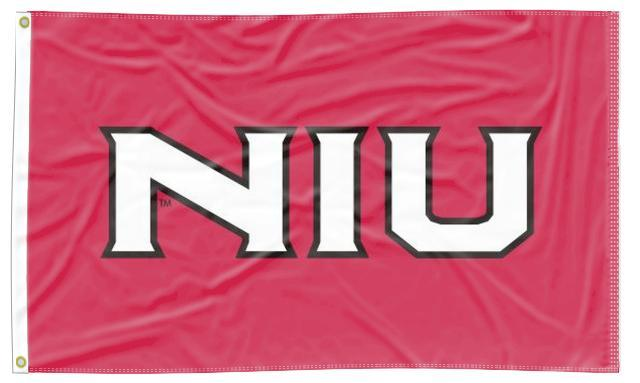 Northern Illinois - NIU Red 3x5 Applique Flag