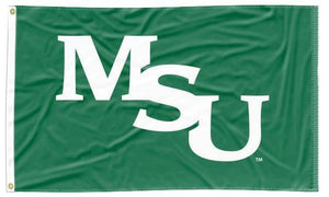 Minot State - MSU Green 3x5 Applique Flag