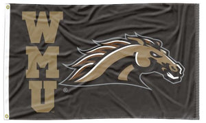 Western Michigan - WMU Bronco Black 3x5 Flag