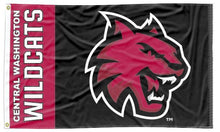 Load image into Gallery viewer, Central Washington - Wildcat 3x5 Flag