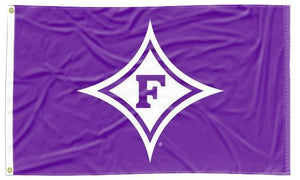 Furman - Paladin Purple 3x5 Applique Flag