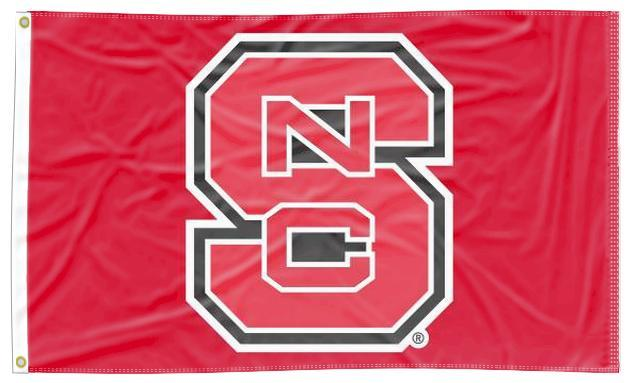 NC State - NCSU Red 3x5 Applique Flag